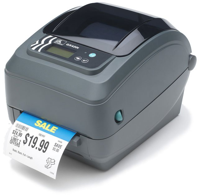 Zebra GX420t Barcode Label Printer: GX42-102410-000