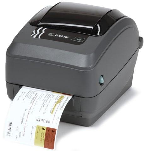 Zebra GX430t Barcode Label Printer: GX43-102410-000