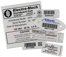 AirTrack XPA016-BD Barcode Label