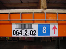 Photo of BCI Warehouse Racking Labels