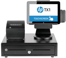 Photo of HP TX1 POS Solution
