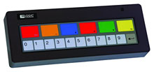 Logic Controls KB1700F-BK-RJ-PLM-10 Keyboard