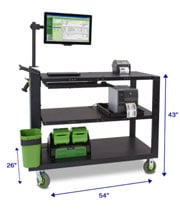Newcastle Systems PC Series Mobile Powered Workstations