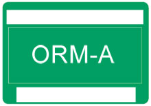 Other Regulated Material ORM-A Label
