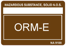 Other Regulated Material O27 Shipping Label
