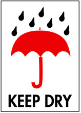 Packing Keep Dry Label
