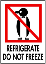 Packing Refrigerate Do Not Freeze Label