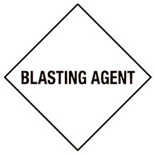 Warning Blasting Agent Label