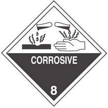 Photo of Warning Corrosive