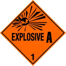 Photo of Warning Explosive 1.1A