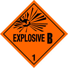 Photo of Warning Explosive 1.2B