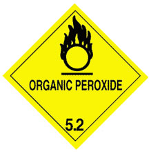 Warning Organic Peroxide Label