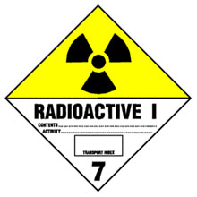 Warning Radioactive Label