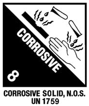 Warning Corrosive Label
