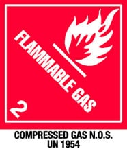 Photo of Warning Flammable Gas with Note