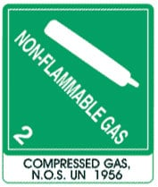Photo of Warning Non-Flammable Gas with Note