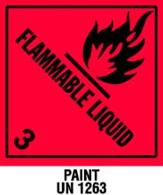 Warning Flammable Liquid with Note