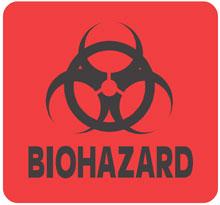 Warning Biohazard Label