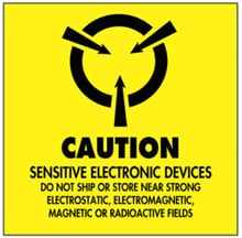 Photo of Warning Caution - Sensitive Electronic Devices