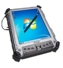 Xplore iX104C5 DMSR-M2 (Dual-Mode Sunlight-Readable for Military CAC Reader) Tablet Computer